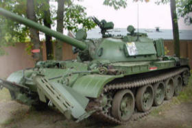 Walkaround of Ex-East German T-55 with KMT mine Plough